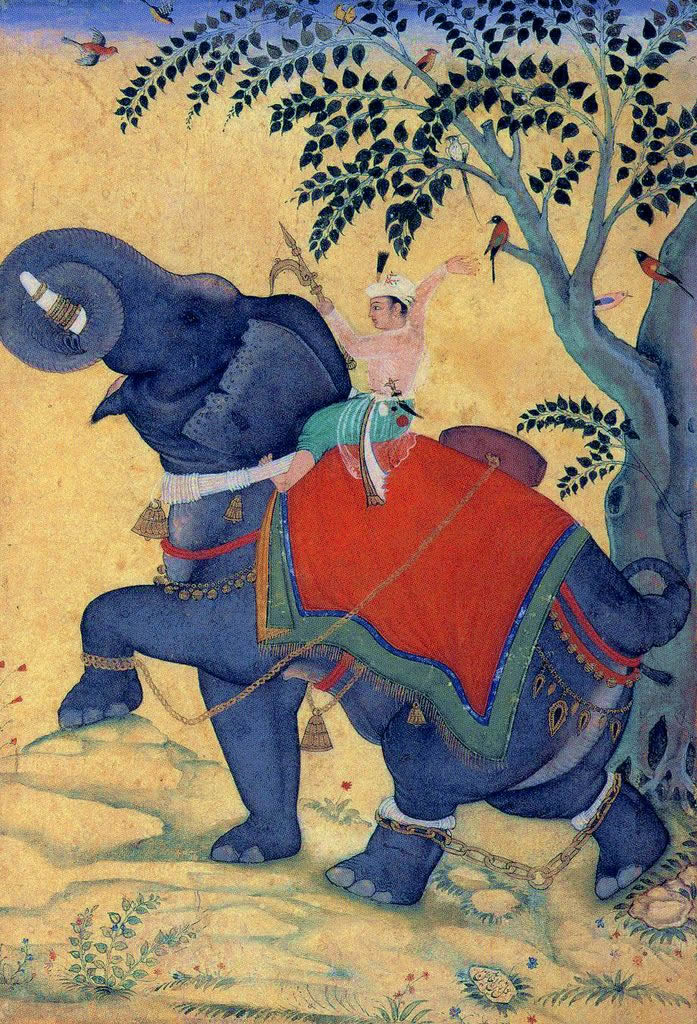 Emperor Akbar tamed an elephant